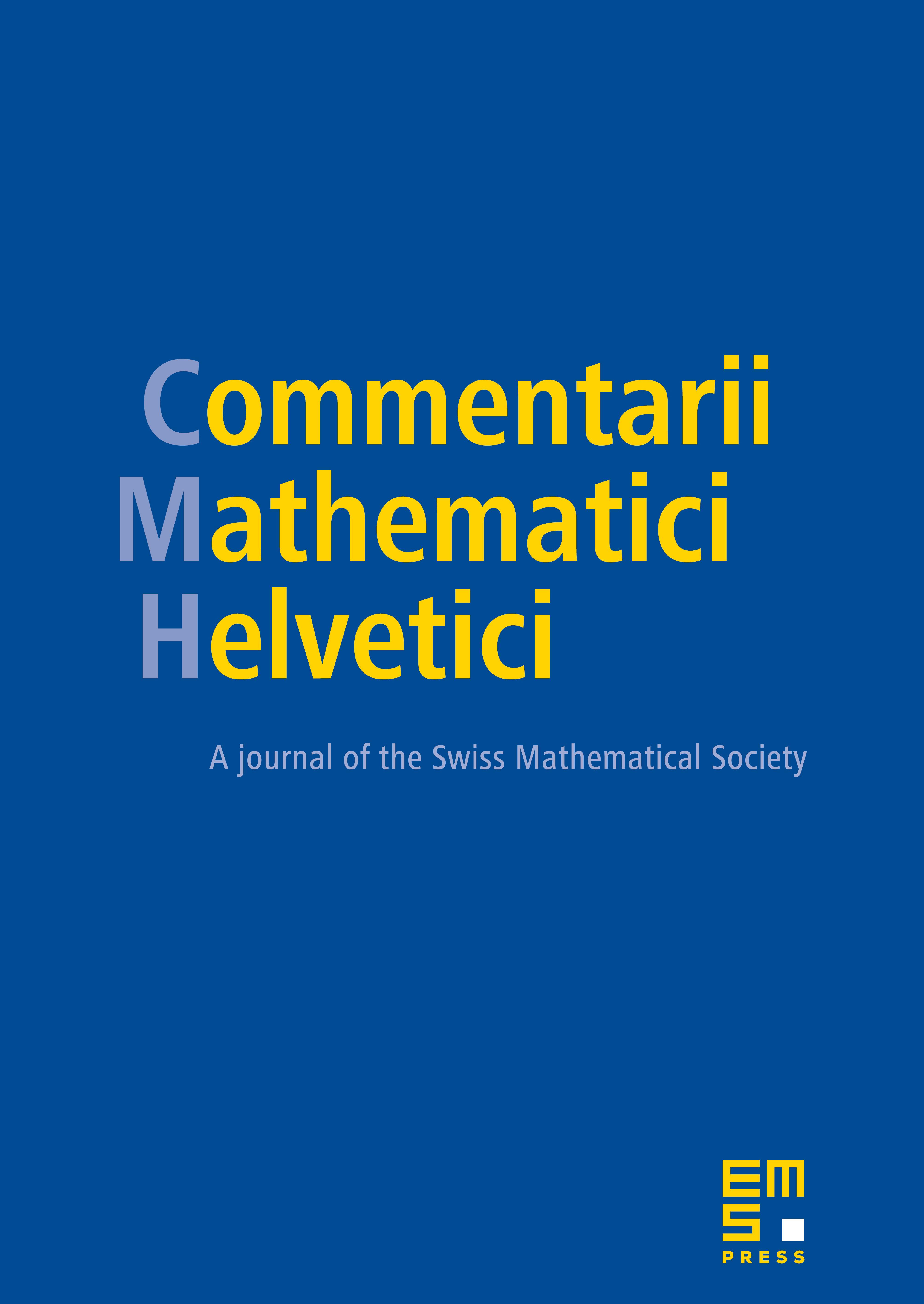 Commentarii Mathematici Helvetici cover