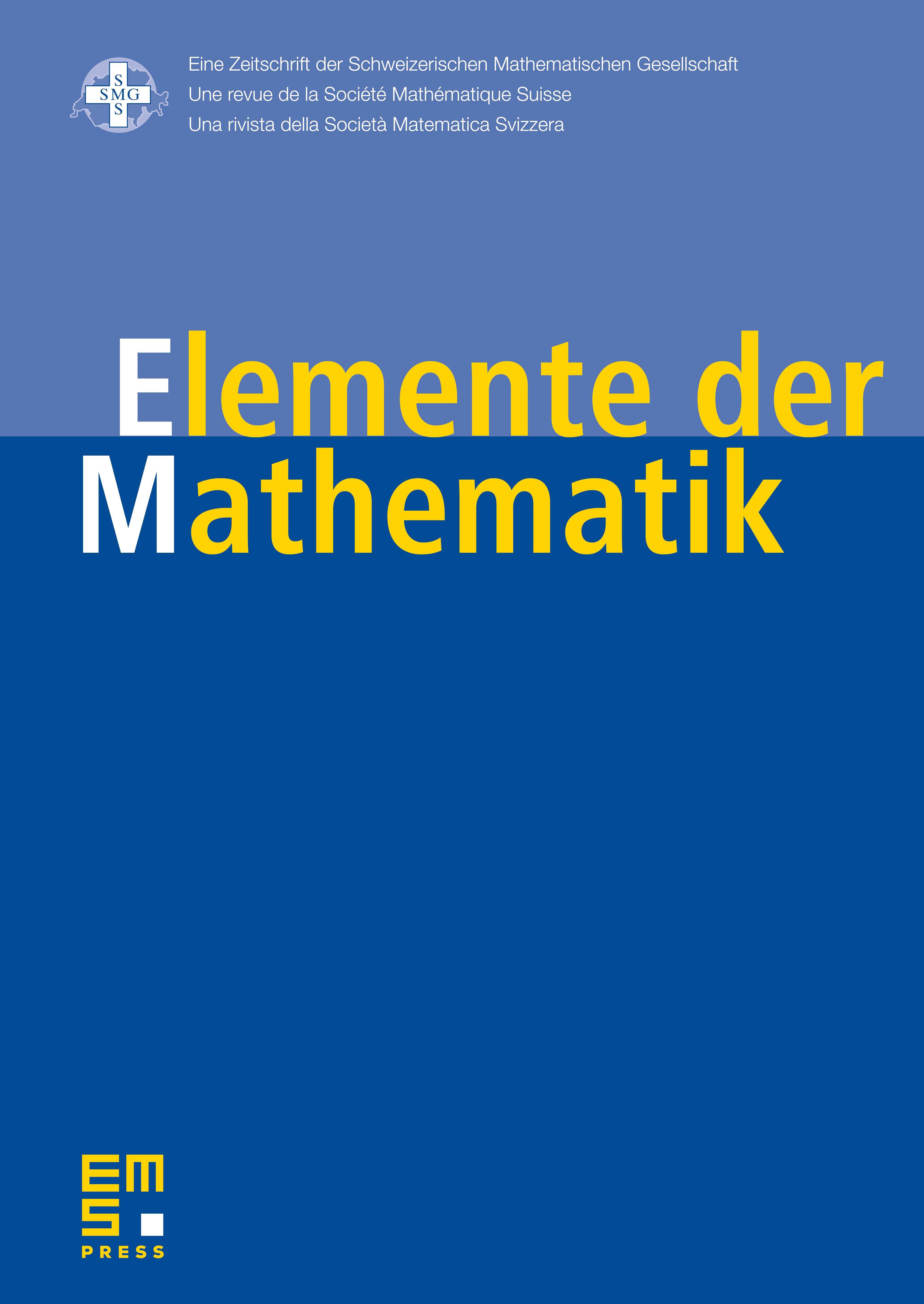 Elem. Math. cover