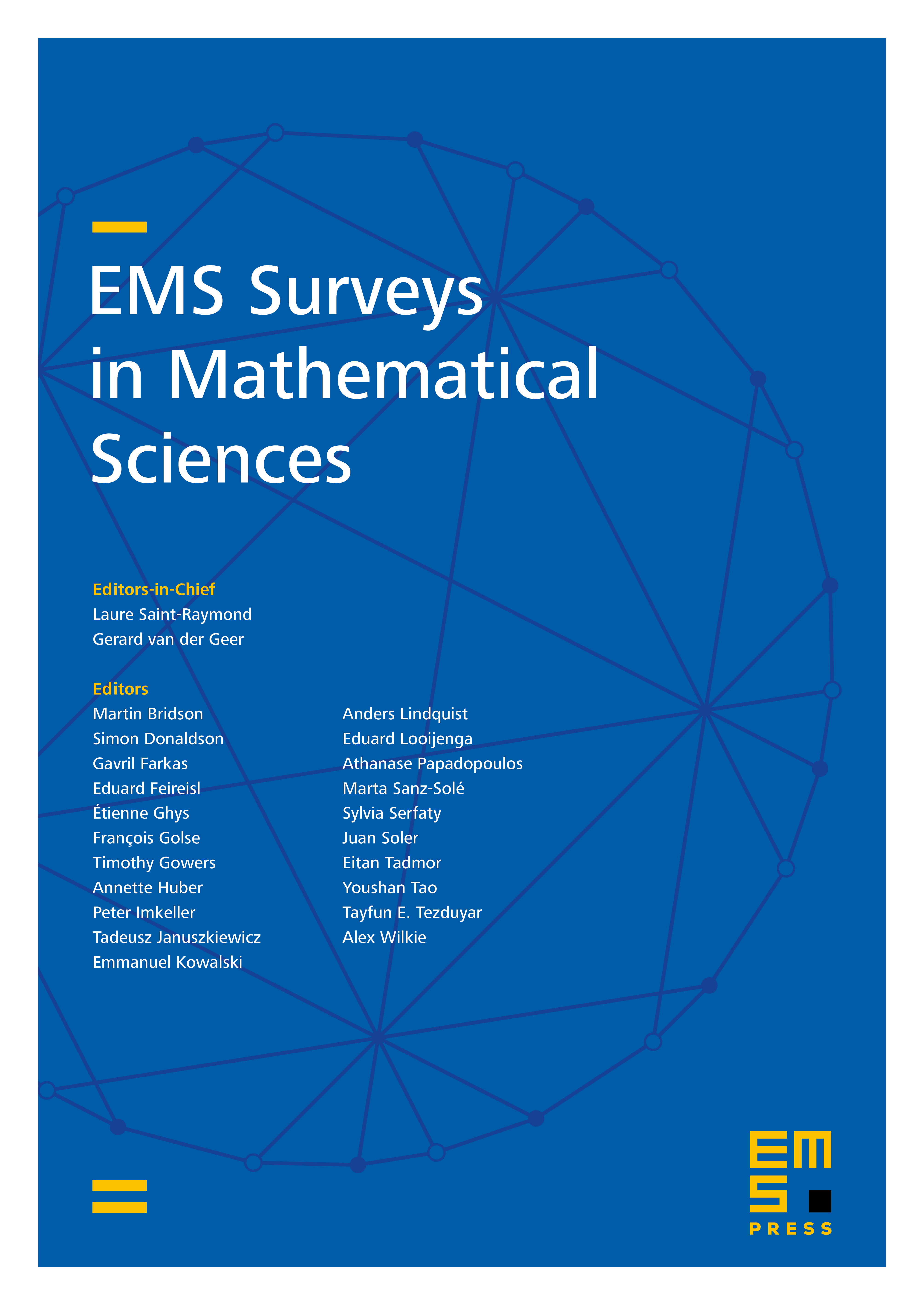 EMS Surveys in Mathematical Sciences cover