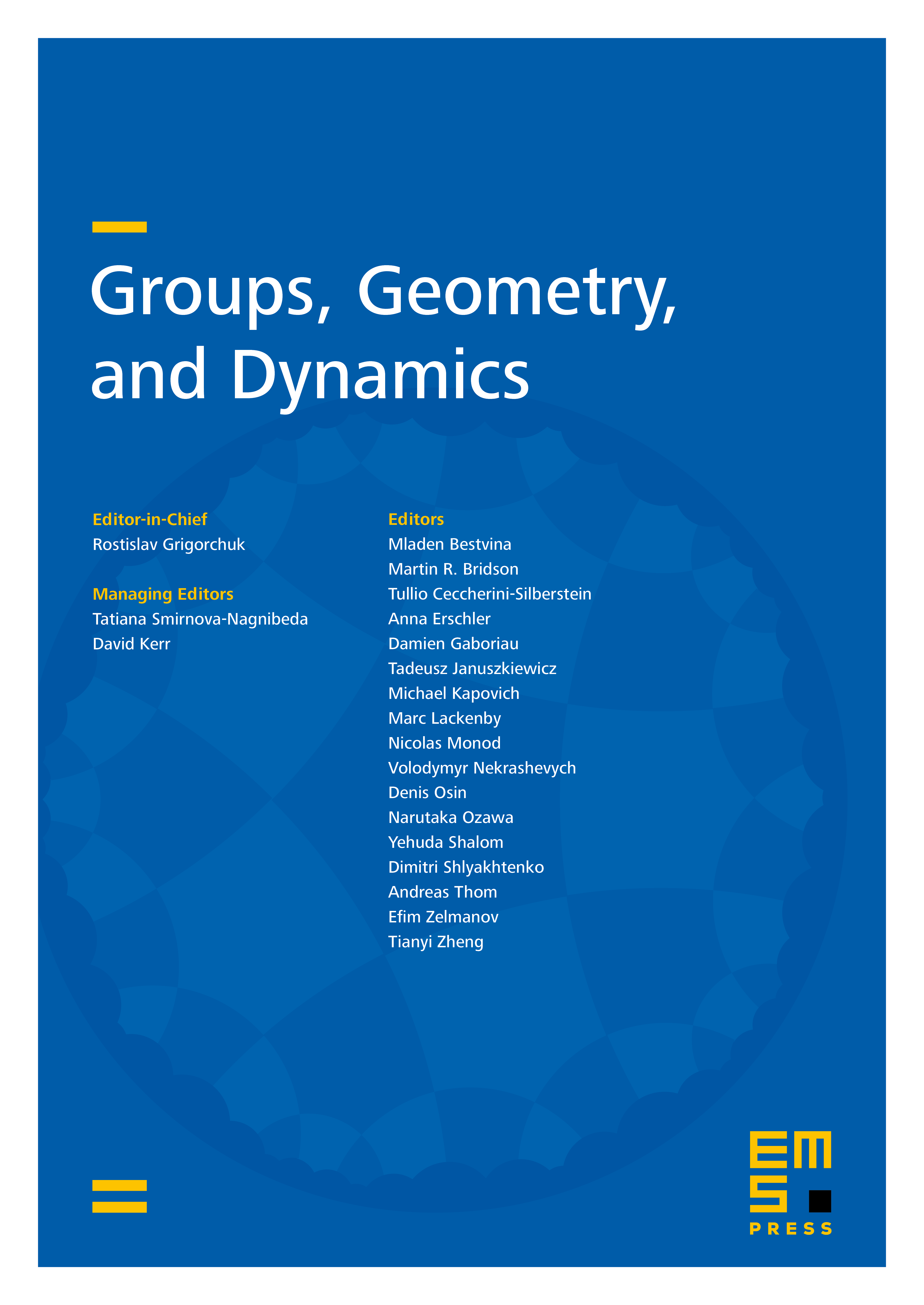 Groups, Geometry, and Dynamics cover