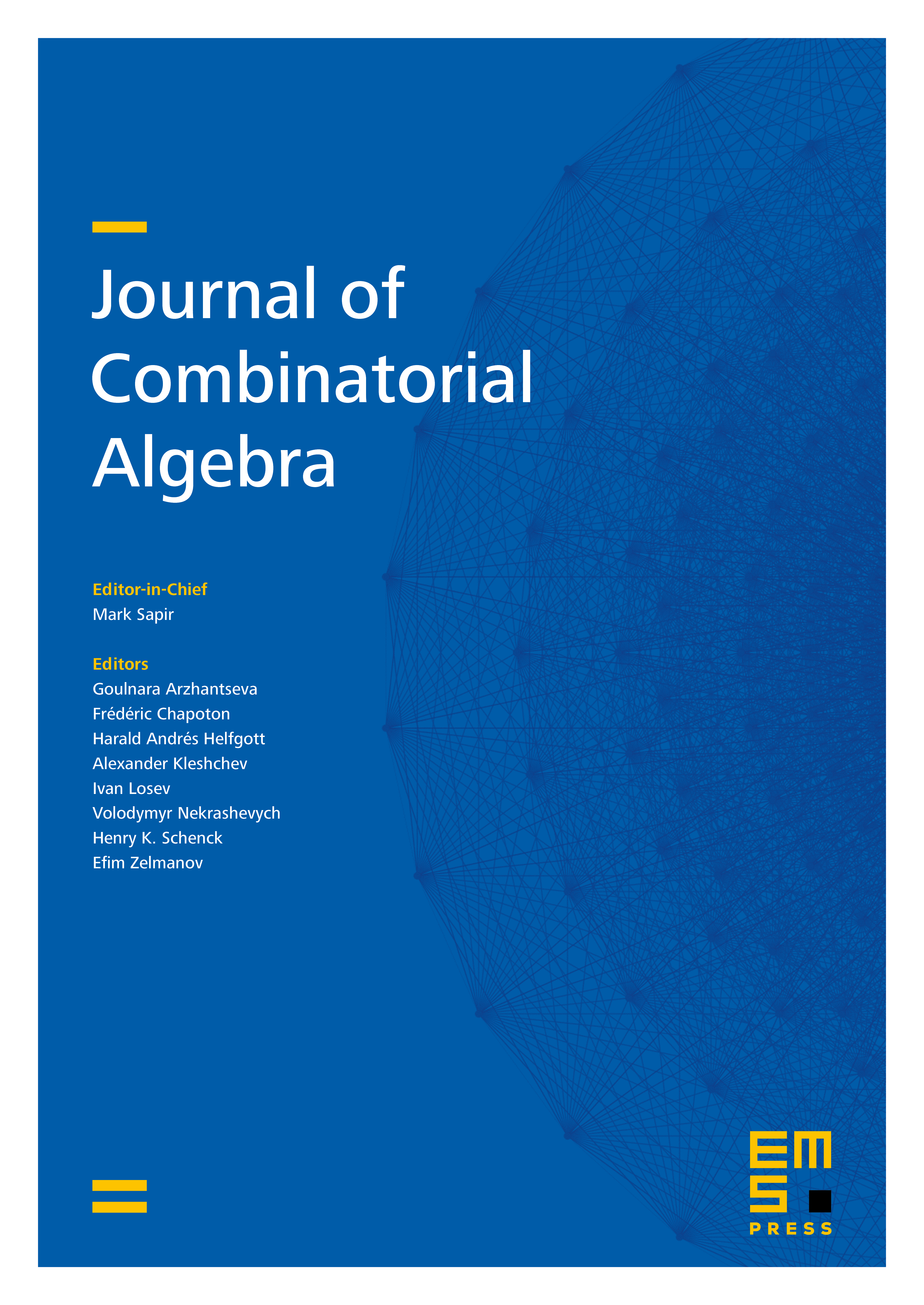 Journal of Combinatorial Algebra cover