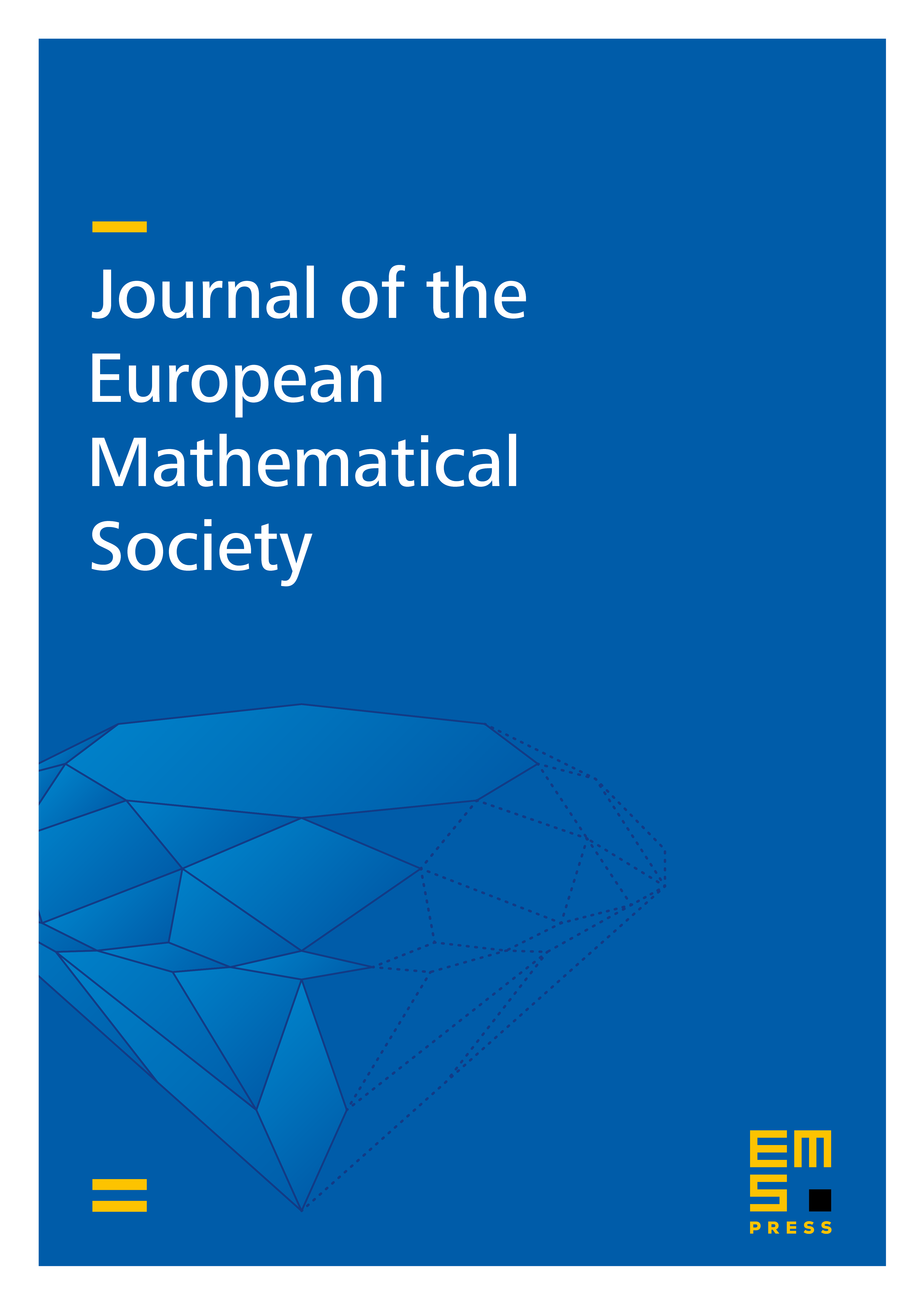 Journal of the European Mathematical Society cover