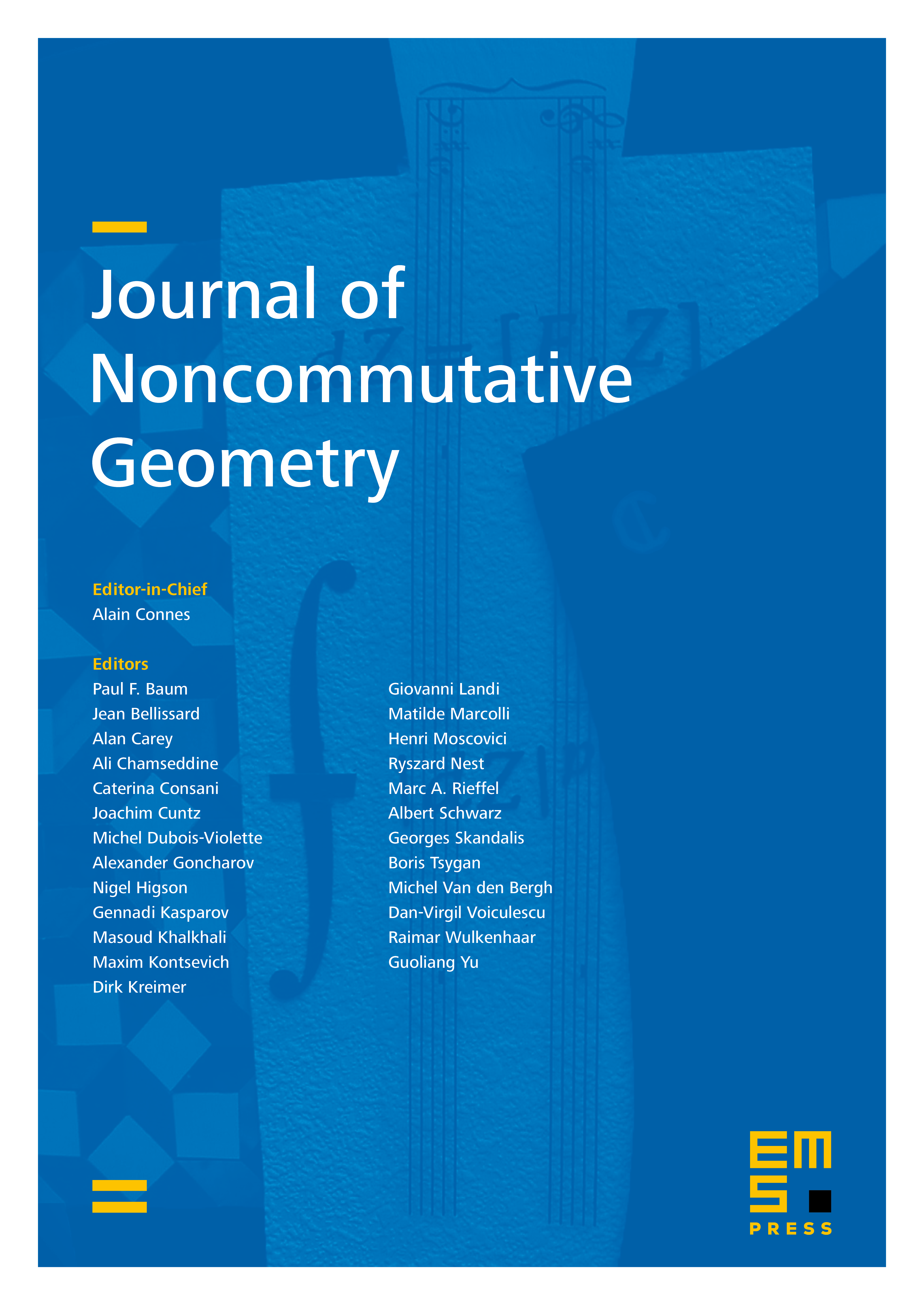 Journal of Noncommutative Geometry cover