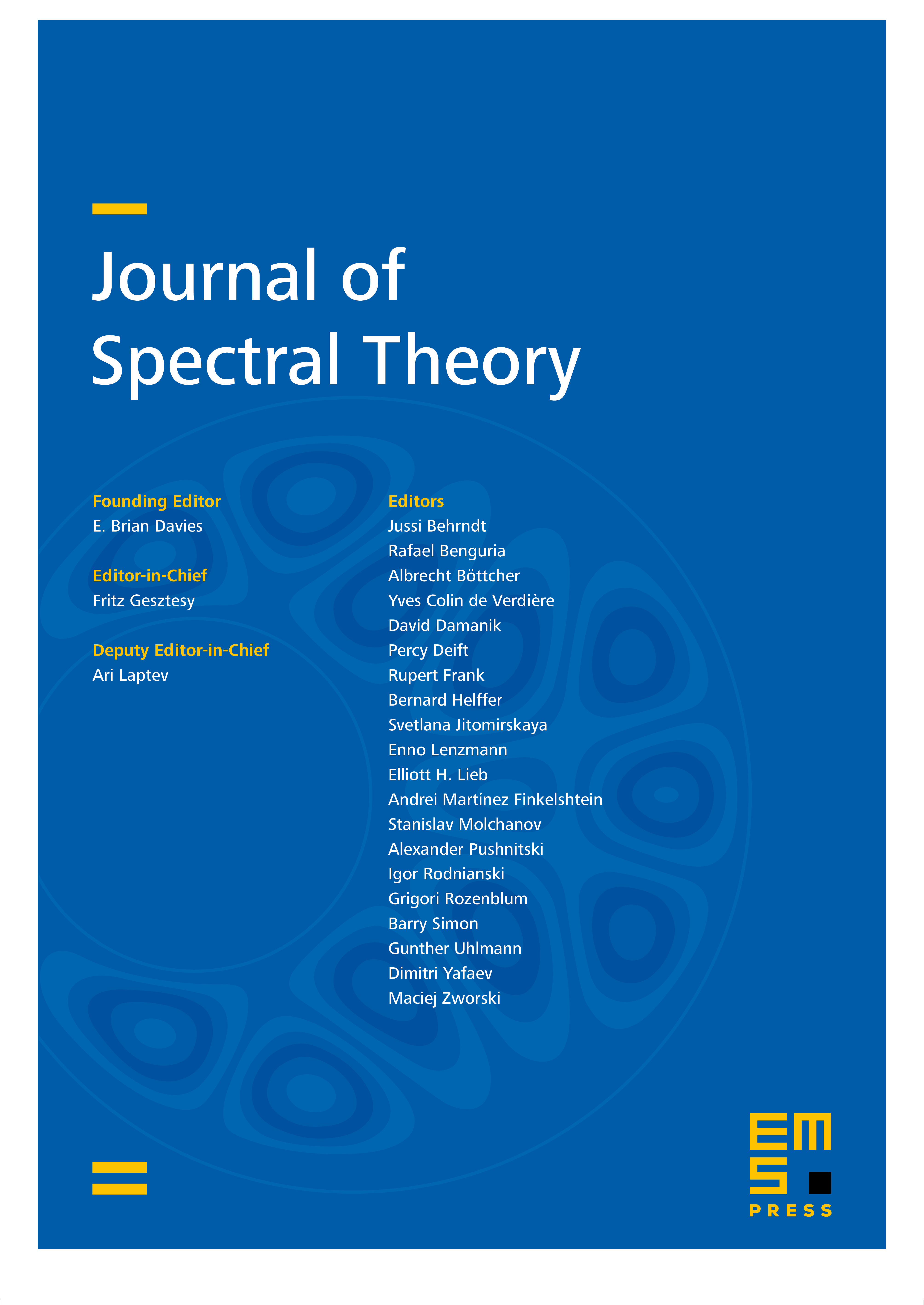 Journal of Spectral Theory cover