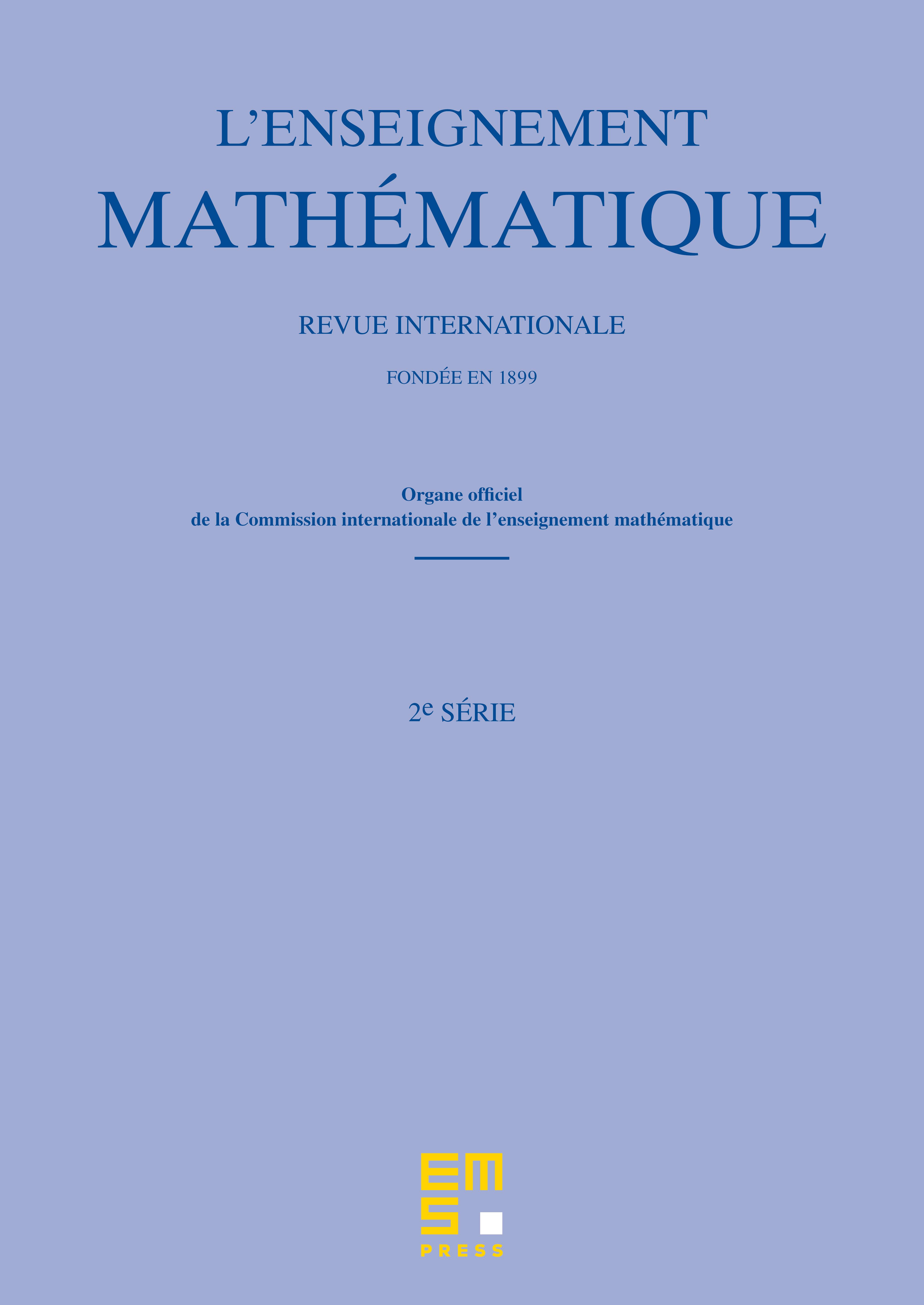 L'Enseignement Mathématique cover