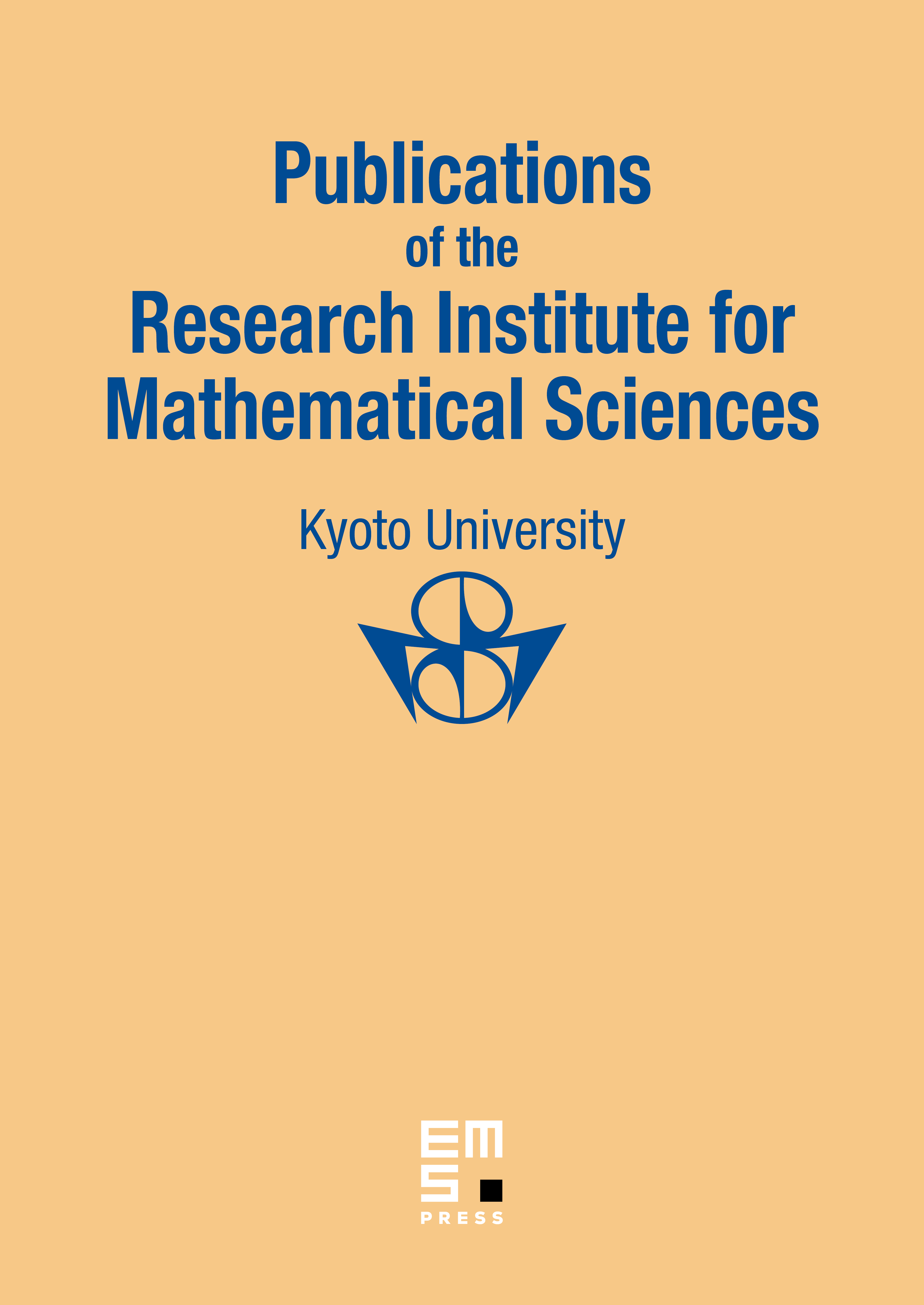 Publ. Res. Inst. Math. Sci. cover