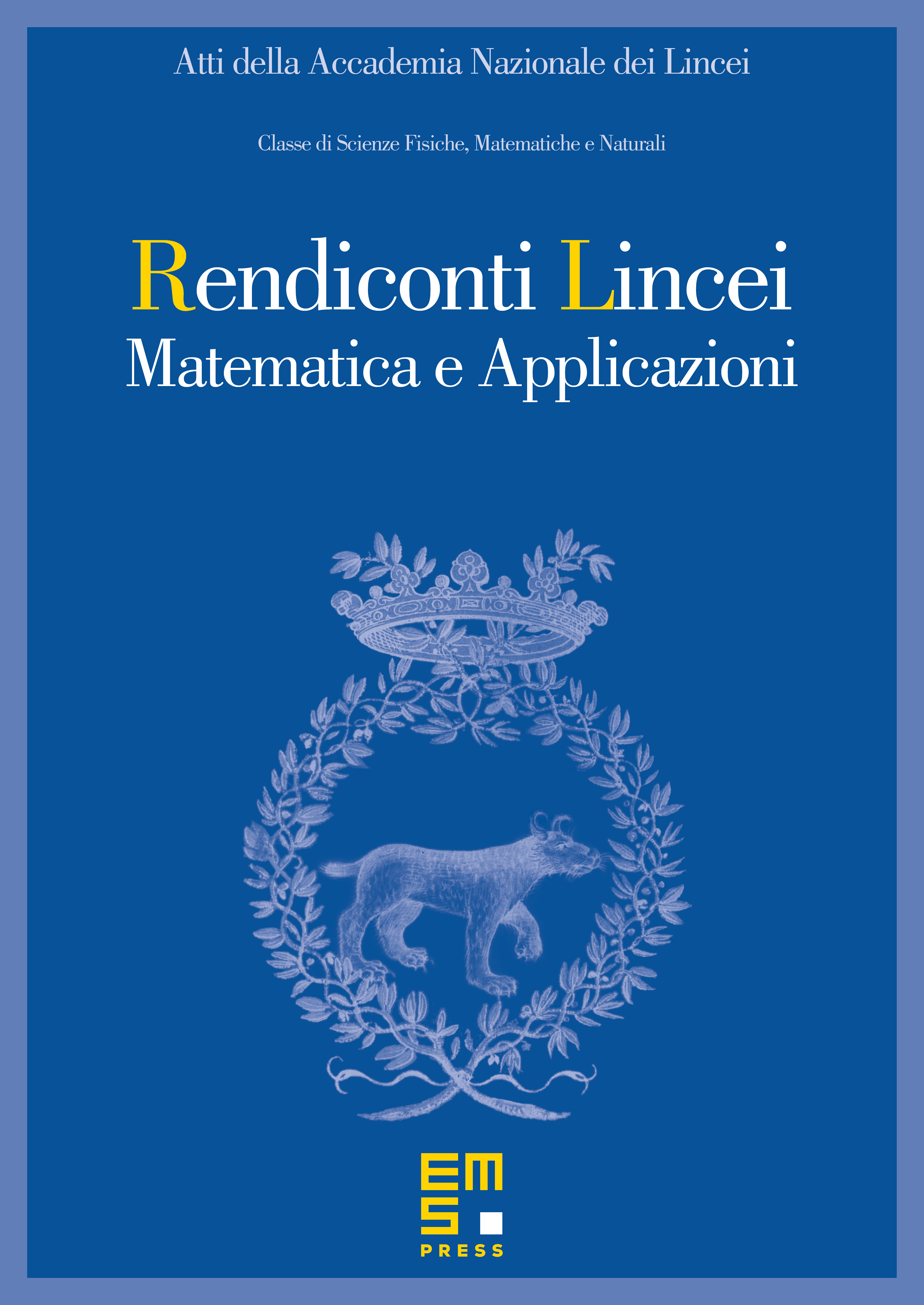 Atti Accad. Naz. Lincei Cl. Sci. Fis. Mat. Natur. cover