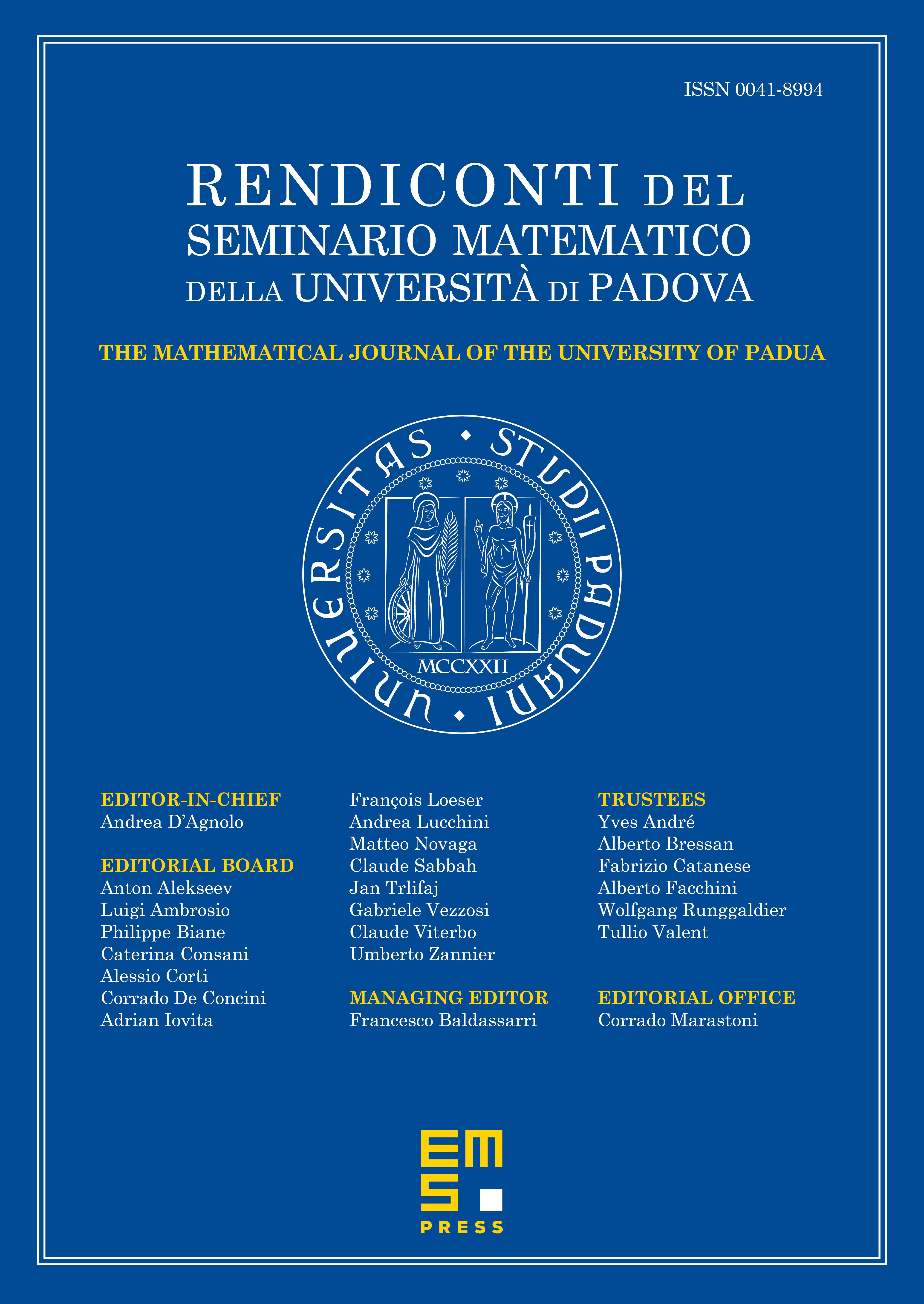 Rend. Sem. Mat. Univ. Padova cover